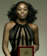 And She Scores!  Nana Akua Addo Wins 'Most Stylish Actress In West Africa' At The Podium Recognition Awards In London