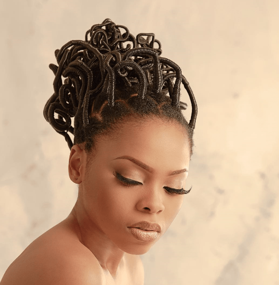 Yay or Nay? Chidinma Takes Us Back Into Time With Her Traditional Hairstyle