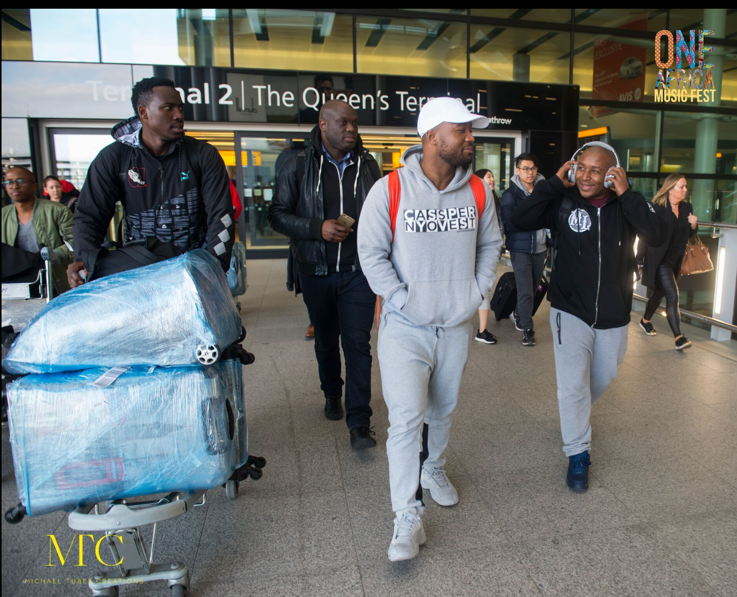 Photos: Cassper Nyovest, Sarkodie,Victoria Kimani, Banky W & More Arrive In London For The 2017 One Africa Music Fest
