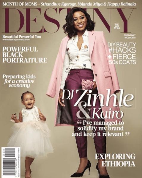 Too Cute! DJ Zinhle & Baby Kairo Cover Destiny Magazine