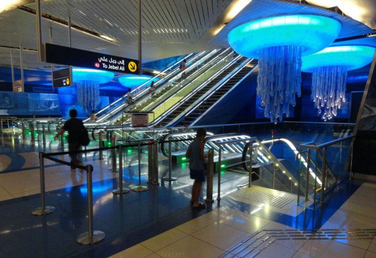 Dubaydakı Burjuman metro stansiyası, BƏƏ.