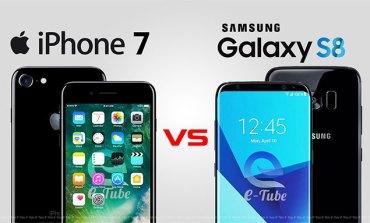 Galaxy S8, S8+ilə iPhone 7, 7 Plus batareya ömrü müqayisəsi