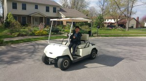 2002 Yamaha G19E 48 volt electric golf cart,NEW BATTERIES