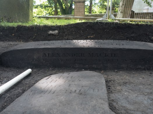 The 19th century stone has an inscription on the east side
