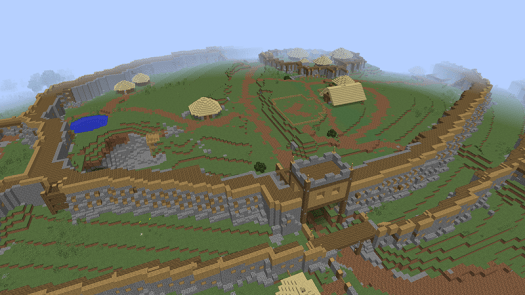 A Scottish Hill Fort realised in Minecraft