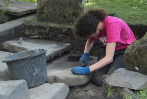 Erin cleaning one of this years exciting finds