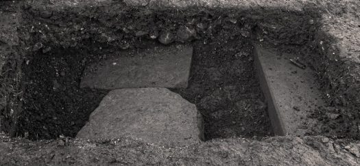A view of the rubble layer in section