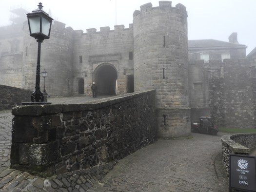 Stirling Castle in the fog