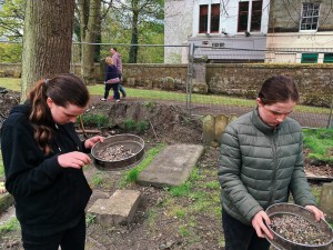 Sieving spoil for missed finds