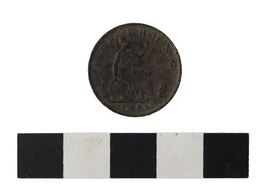 Obverse of Victorian farthing