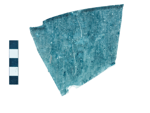 "Fragment of ""corrugated"" plate glass"