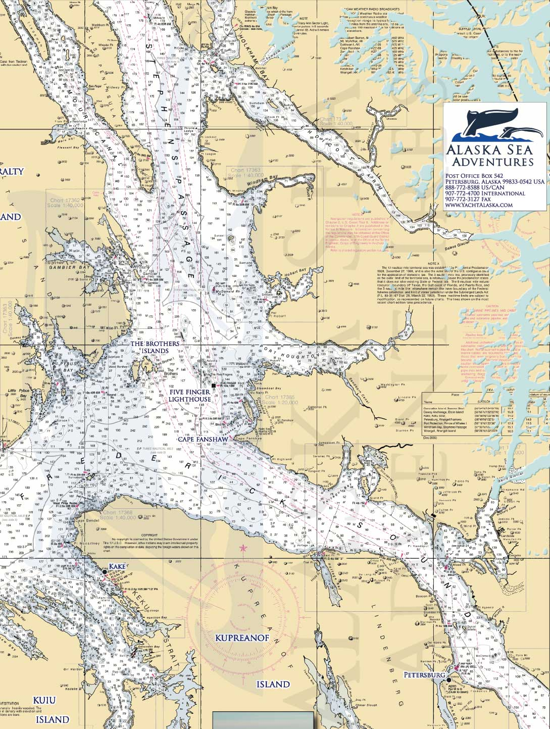 Alaska Sea Adventures SE Alaska Maps Alaska Sea Adventures