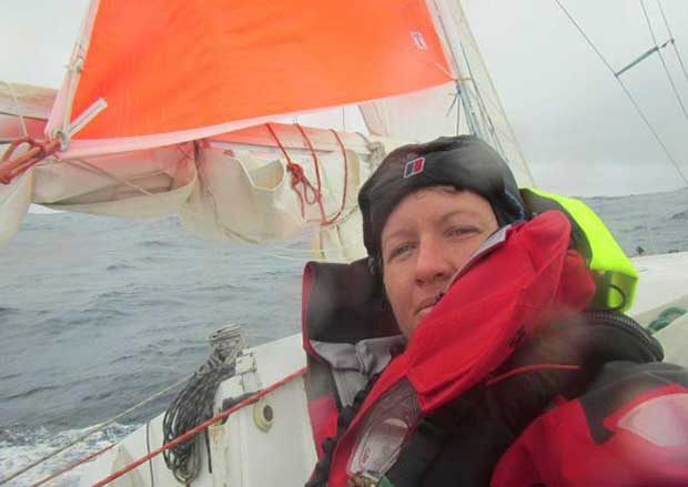 Lisa Blair sailed solo in the 2014 ITL Solo Tasman Challenge from New Zealand to Queensland. Lisa Blair