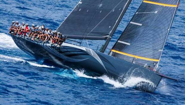Current overall race winner and holder of the RORC Caribbean 600 Trophy: George Sakellaris, Maxi72 Proteus © RORC / Tim Wright / Photoaction.com