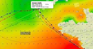 Recommended time for the lead yachts to tack and head for the finish of the Vendee Globe Race. © PredictWind