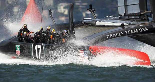 The AC72's pulled a big following on YouTube for the final race of the 34th Match in San Francisco © Guilain Grenier Oracle Team USA http://www.oracleteamusamedia.com/