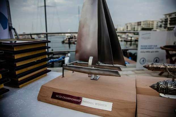 The grand trophy for the GC32 Champion - GC32 Championship © Jesus Renedo / GC32 Championship Oman