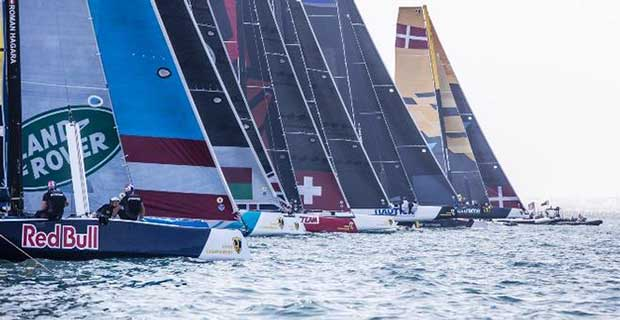 Both today's races had upwind rather than reaching starts - GC32 Championship © Jesus Renedo / GC32 Championship Oman