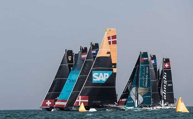 The opening Act of the Extreme Sailing Series has recently taken place in Muscat, Oman, with SAP Extreme Sailing Team taking the first victory of the season. Lloyd Images http://lloydimagesgallery.photoshelter.com/