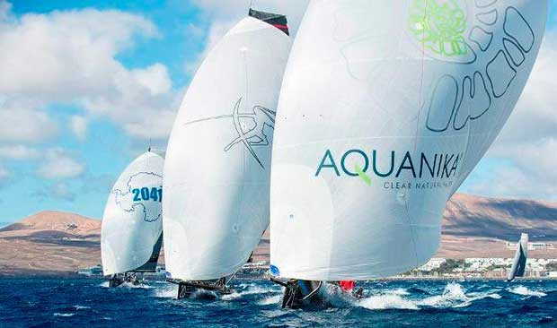 The fleet will return to the Atlantic waters of Lanzarote for the 2017 final - RC44 Championship Tour Martinez Studio / RC44 Class