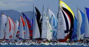 Close racing; Audi Hamilton Island Race Week always offers colour, excitement and close racing on the warm tropical waters of the Whitsunday islands region Ciaran Handy http://www.sail-world.com