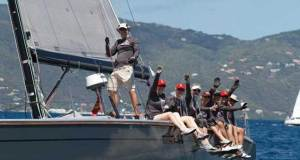 Fun racing in CSA Jib & Main for Jeremi Jablonski's Hanse 43 © BVI Spring Regatta