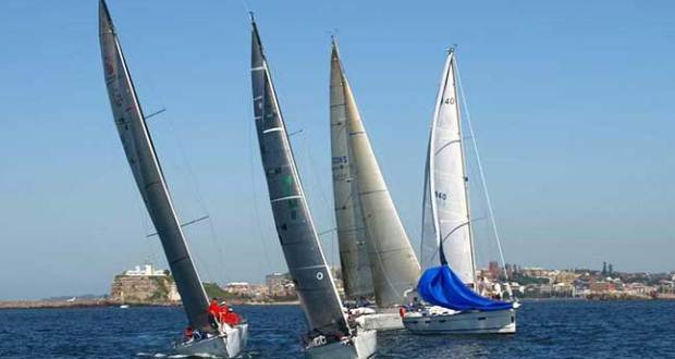 Yachts lining up to start the 2013 Newcastle to Port Stephens Yacht Race © NCYC http://www.ncyc.net.au/