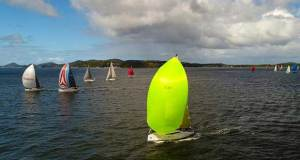 Aerial final Commodore's Cup Race © Hover UAV