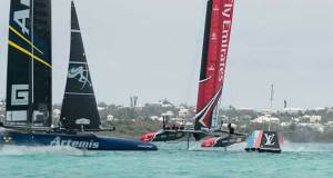 Artemis Racing vs Emirates Team New Zealand sailing on Bermuda's Great Sound racing in the lead up to the 35th America's Cup Hamish Hooper/Emirates Team NZ http://www.etnzblog.com