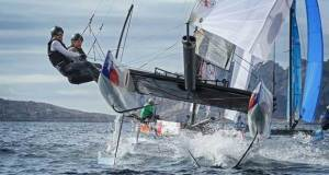The next Act in Madeira Islands will see the Flying Phantom Series take off, alongside the Extreme Sailing Series, for the first time. © Martina Barnetova