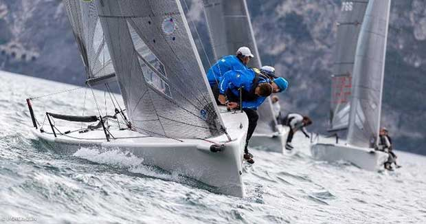 Claudio Ceradini's Altea ITA722 helmed by Andrea Racchelli, also boat of the day on Day 2 in Riva - Melges 24 European Sailing Series © IM24CA/ZGN/Mauro Melandri