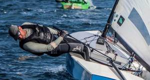 Mark Jackson checking for weed - OK Dinghy World Championships © Robert Deaves