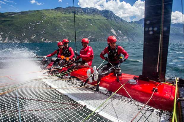 On board with Código Rojo Racing Team. © Jesus Renedo / GC32 Racing Tour