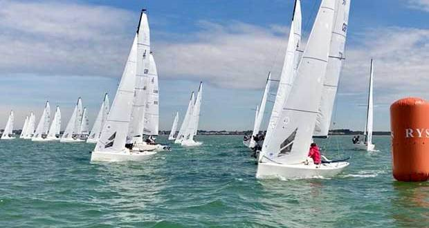 Four competitive races in the Central Solent - J/70 UK National Championship - Day 1 © Key Yachting / Louay Habib
