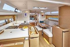 Galley through to Owner's Stateroom - Jeanneau Sun Odyssey 440 © Bertrand Duquenne