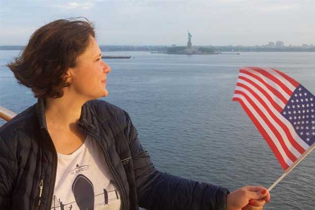 Anna Boissier in New York Harbour © Matthew Pryor / The Bridge