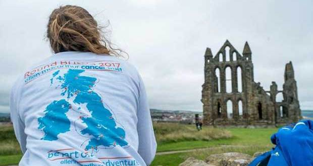 Crew of leg 7 visiting Whitby Castle during a stopover © Ellen MacArthur Cancer Trust
