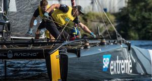 2017 Extreme Sailing Series™ Act 6, Cardiff © Vincent Curutchet