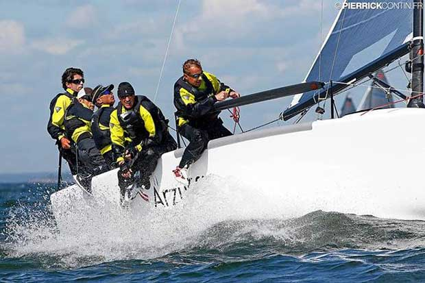 Gianluca Perego's Maidollis (ITA) with Carlo Fracassoli in helm is on the fifth position in the current ranking of the Melges 24 European Sailing Series © Pierrick Contin http://www.pierrickcontin.fr/