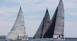 Low numbers did not affect the closeness of the double handed start, with eventual winner Selkie showing up early. - Rockwater Coventry Reef Race © Bernie Kaaks