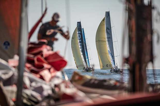 Leg Zero, Prologue start on-board Dongfeng. Dongfeng has a bad start and sails in the back of the fleet - 2017-18 Volvo Ocean Race © Jeremie Lecaudey / Volvo Ocean Race