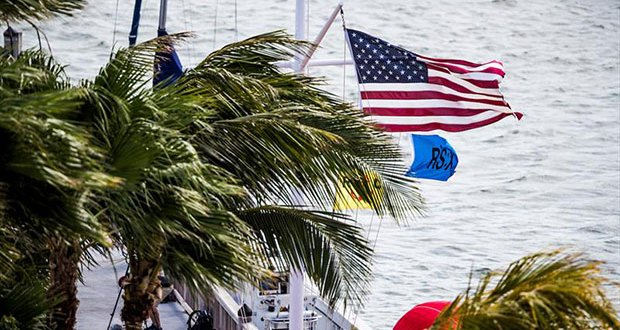 Heavy Winds in Miami - 2018 World Cup Series Miami - photo © Tomas Moya / Sailing Energy