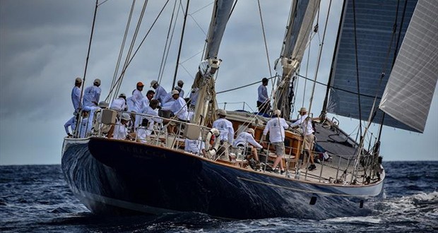 The 142ft Frers ketch Rebecca - Superyacht Challenge Antigua 2018 - photo © Ted Martin