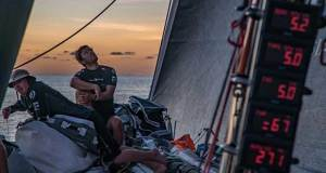Volvo Ocean Race Leg 6 to Auckland, day 14 on board Sun hung Kai / Scallywag. Light winds and beautiful sunsets. 20 February - photo © Jeremie Lecaudey / Volvo Ocean Race
