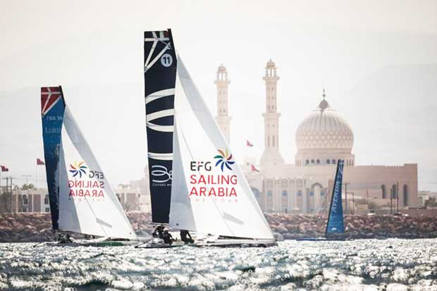 EFG Sailing Arabia The Tour on February 14th, in the city of Sur, Oman © Lloyd Images