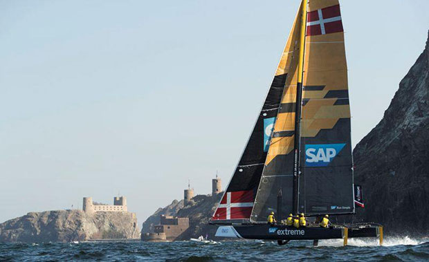 Extreme Sailing Series Act 1, Muscat 2017 - Day one - SAP Extreme Sailing Team - photo © Lloyd Images