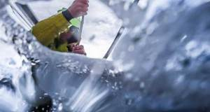 Volvo Ocean Race Leg 7 from Auckland to Itajai, day 04 on board Brunel. Peter Burling doing something, but I don't know what, as I obviously was on the other side of the water curtain. 21 March © Yann Riou / Volvo Ocean Race
