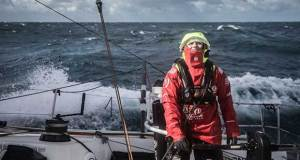 Leg 7 from Auckland to Itajai, day 16 on board Dongfeng. Marie Riou smelling the caipirinha. 31 March, . - photo © Martin Keruzore / Volvo Ocean Race