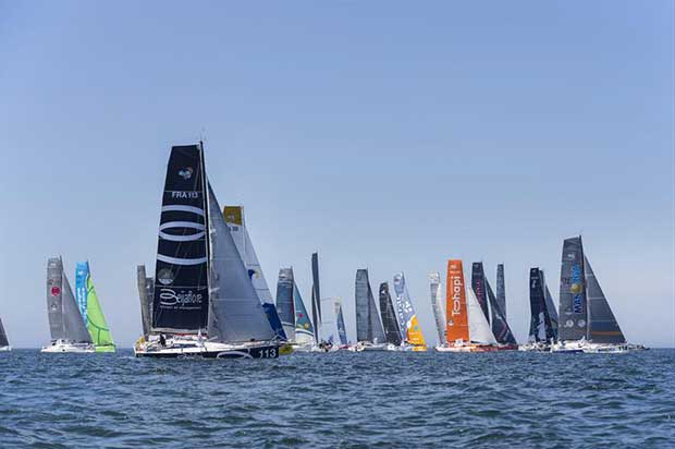 Shortly after the start of the Normandy Channel Race 2018 © Jean-Marie Liot