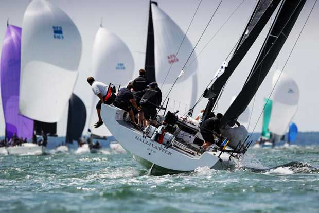 'Nautical boxing' and challenging start to the long inshore race 6 for the young crew on Gallivanter racing in IRC One - photo © Paul Wyeth / pwpictures.com